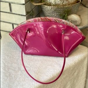Beijing Half Moon Pink Purse Vegan Patent Leather